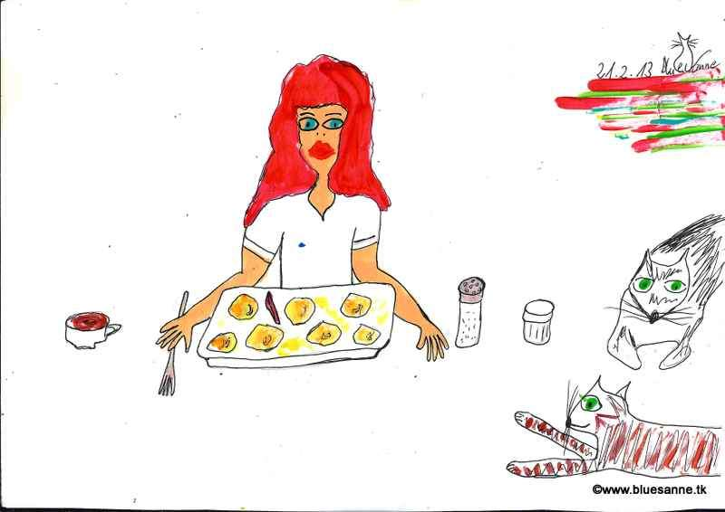 ich mag diese einfachen Gerichte (Erdäpfel gekocht, ein wenig Butter, Salz u. ein Stück Sardelle)210219
