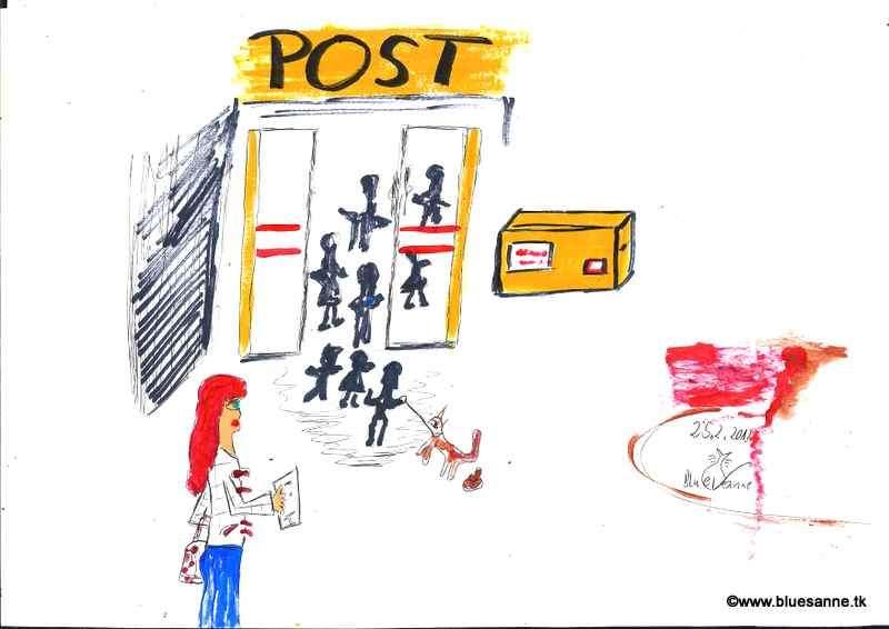 (wie immer)anstellen bei der Post250213