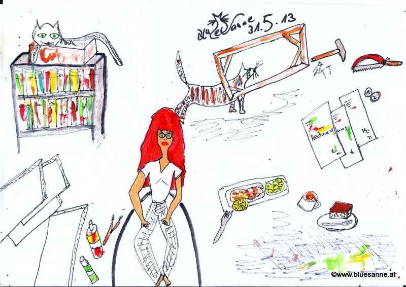 Flohmarkt (Leinwände gekauft), gebacken Fisch essen, Rechnungen bezahlen, Schokolademohnkuchen essen, Kaffee trinken, Rahmen bauen310513