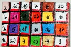 Adventkalender01.11.20129 x 6 cmAcryl + Varnish auf Leinwand + Staffel