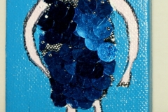 Blue-P-Lady22.09.20129 x 7 cmAcryl + Varnish auf Leinwand + Staffel
