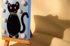 DiamondSnowCat17.11.20129 x 6 cmAcryl + Varnish auf Leinwand + Staffel