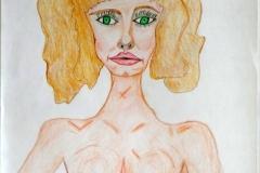Blondy25.12.200155,5 x 42 cmBuntstift auf Papier