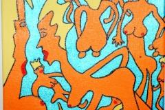 BlueVerdeNaked26.03.201320 x 20 cmAcryl + Marker auf Leinwand