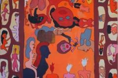 CavaloNaked03.01.201380 x 60 cmAcryl + Gouache auf Leinwand