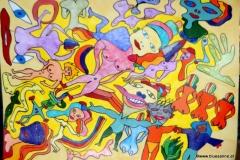 ColorNaked04.06.201243,5 x 31 cmAcryl + Pinselstift + Buntstift + Marker auf Papier