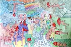 NakedSurr19.10. - 20.10.201442 x 29,5 cmFilzstift + Gouache auf Papier