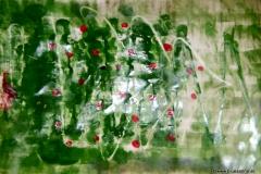 G8 Acryl + Klarlack auf Papier 63 x 44 cm