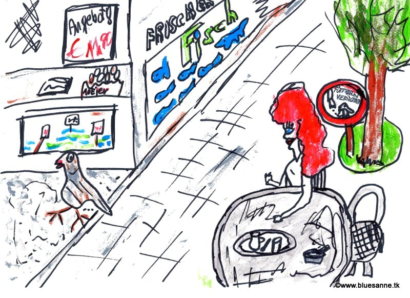 selbstbwusste Taube im EinkaufszentrumBK160812