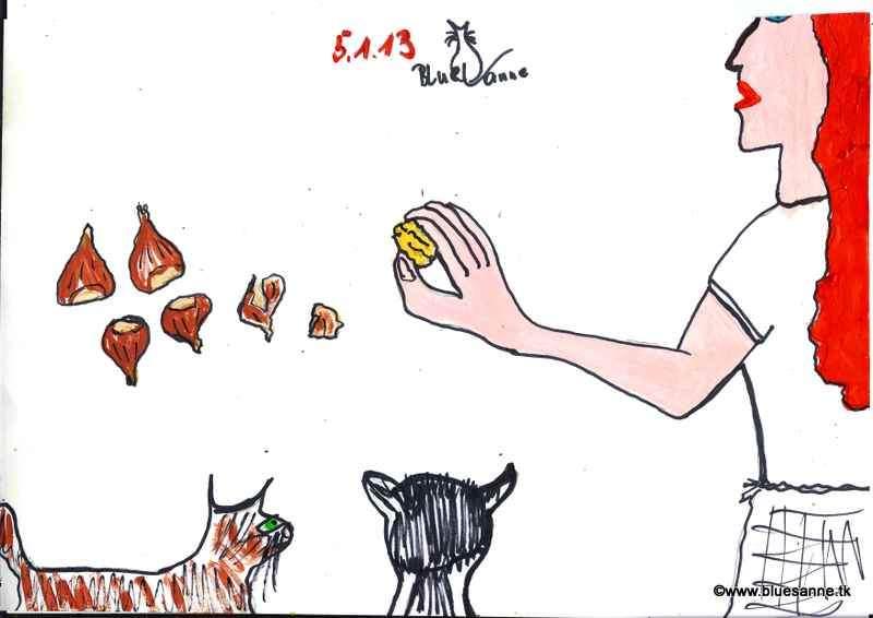heiße Maroni aus dem eigenen Ofen (Geschenk aus Italien)050113