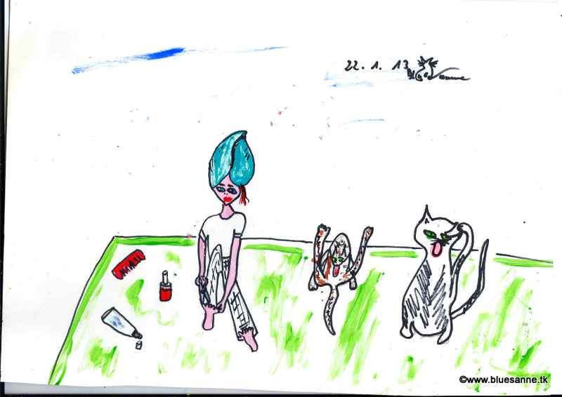 (Katzen) Wäsche220113