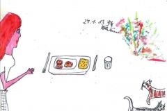Freue mich, wenn ich was frisch gekochtes zu Essen habe (heute Fleischlaberl + Erdäpfelpüree)270113