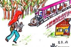 im Prater spazieren u. mit Liliputbahn gefahrenBK080912