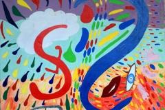 Abschied14.01.200760 x 60 cmAcryl + Gouache auf Leinwand