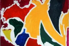 Bird23.01.201050 x 40 cmAcryl + Gouache auf Leinwand