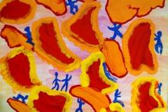 Blood02.04.200760 x 50 cmAcryl + Gouache + Pastellkreide auf Leinwand