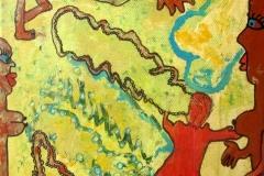 CaveWoman03.10.201420 x 20 cmAcryl + Marker auf Leinwand