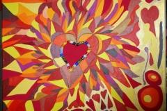 Corazon31.10.201258 x 58 cmAcryl + Marker auf Leinwand