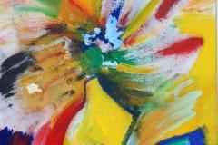 Dandelion06.01.200760 x 50 cmAcryl + Gouache auf Leinwand