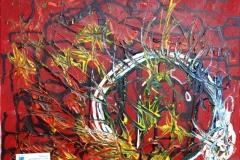 Daysy11.05. - 27.08.201150 x 40 cmAcryl + Gouache auf Leinwand