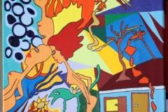 DreiStirn02.03. - 17.03.201650 x 40 cmAcryl + Marker auf Leinwand