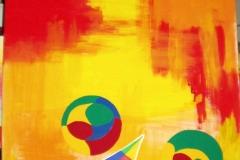 Flipper00.00.200780 x 60 cmAcryl + Pastellkreide auf Leinwand