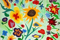 Flowers03.03.200760 x 50 cmAcryl + Gouache + Pastellkreide auf Leinwand