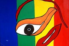 Flying Sin21.07.200650 x 40 cmAcryl + Gouache auf Leinwand