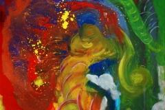 HeartBeat24.09.201170 x 70 cmAcryl + Gouache auf Leinwand