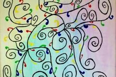 In the garden00.00.200650 x 50 cmAcryl + Pastellkreide auf Leinwand