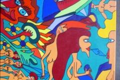 Love Talks15.10.201570 x 50 cmAcryl + Marker auf Leinwand