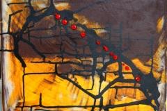 Metro16.04.201150 x 40 cmAcryl + Tusche auf Leinwand