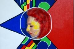 OneWay00.00.200360 x 50 cmAcryl + Gouache + Fotokopie auf Leinwand