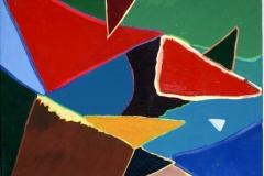 Pizza13.10.200750 x 40 cmAcryl + Gouache auf Leinwand