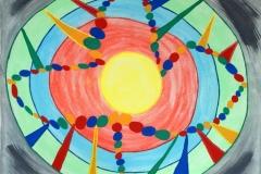 Planets20.02.200750 x 40 cmAcryl + Gouache + Pastellkreide auf Leinwand