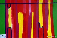 Plattenbau01.05.201060 x 40 cmAcryl + Gouache auf Leinwand