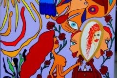 Spieglein, Spieglein02.08. - 08.08.201550 x 40 cmAcryl + Marker auf Leinwand
