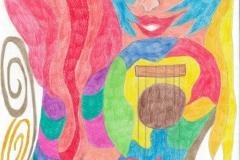 LadyGuitar01.01. - 02.01.200229,4 x 21 cm Buntstifte auf Papier