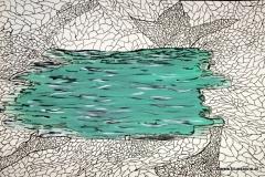 Lake00.00.200142 x 29,5 cmAcryl + Tinte auf Papier