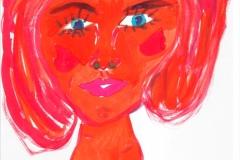 LilaLady25.11.200129,4 x 21 cm Wasserfarbe auf Papier