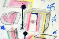 LoveGrows21.09.201342 x 29,5 cmPastellkreide + Tusche auf Papier