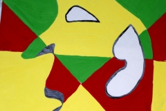Mask10.12.200156 x 42 cmGouache + Plaka auf Papier