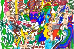Masked29.10.201229,7 x 21 cmPinselstift + Filzstift auf Papier