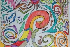 Octupussy13.12. - 15.12.200156 x 42 cmBuntstift + Tusche auf Papier