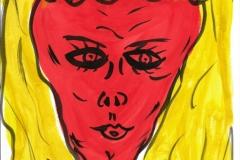 OrangeLady26.11.200129,4 x 21 cm Wasserfarbe auf Papier