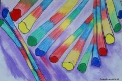 Pency00.00.200463 x 44 cmGouache + Pastellkreide auf Papier