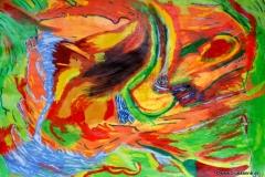 Peperoni00.01.200363 x 44 cmAcryl + Gouache auf Papier