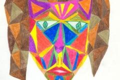 Perücke28.12.200163 x 44 cmBuntstift auf Papier