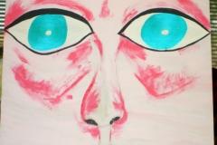 PinkFace04.05.201260 x 42 cm Acryl auf Karton