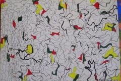 Pixls30 x 21 cmAcryl + Fineliner auf Karton